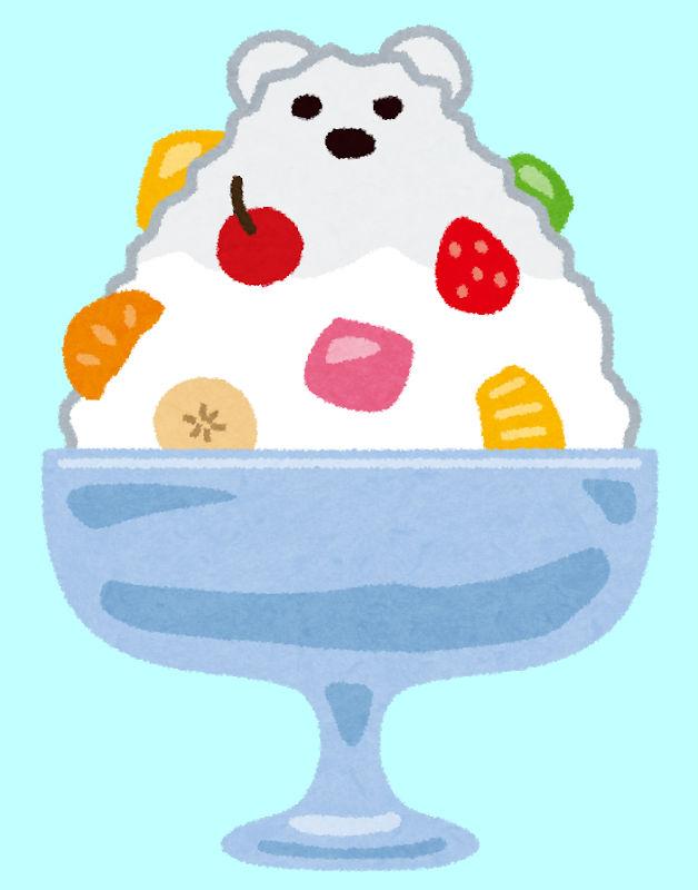 シロクマのかき氷