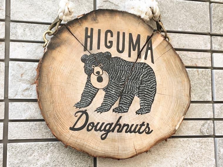 ヒグマドーナッツの看板