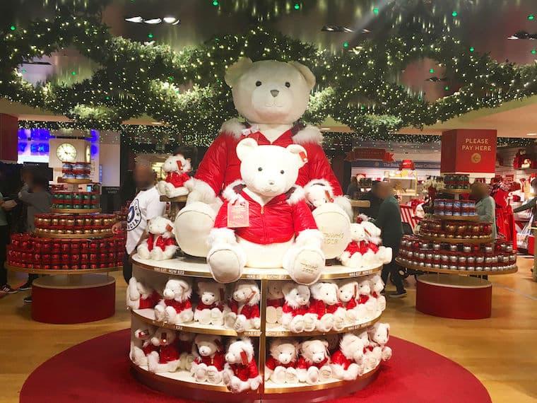ハロッズのクリスマス装飾