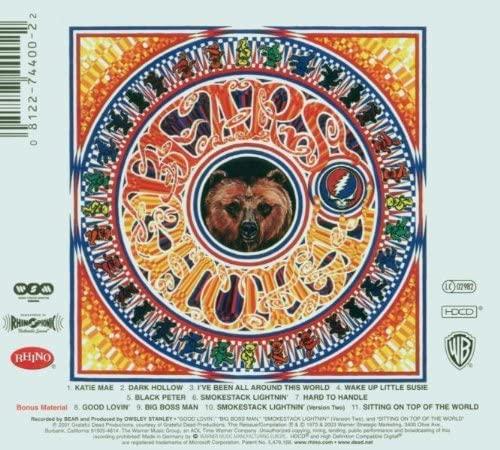 "Grateful Dead - ""History of the Grateful Dead, Vol. 1 (Bear's Choice)"""